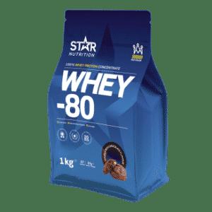 Whey 80 proteinpulver fra Star Nutrition