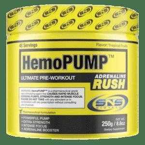 HemoPump Adrenalin rush fra preoteinfabrikken.no er det andre beste pre workout tilskuddet i vår test