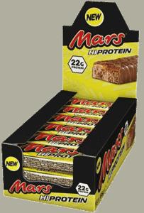 Mars proteinbar har et høyt innhold av protein per bar
