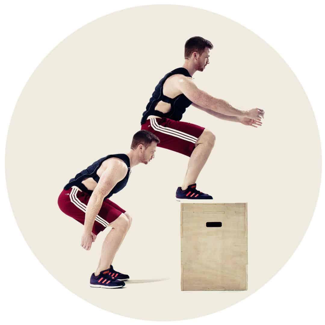 bokshopp med vektvest