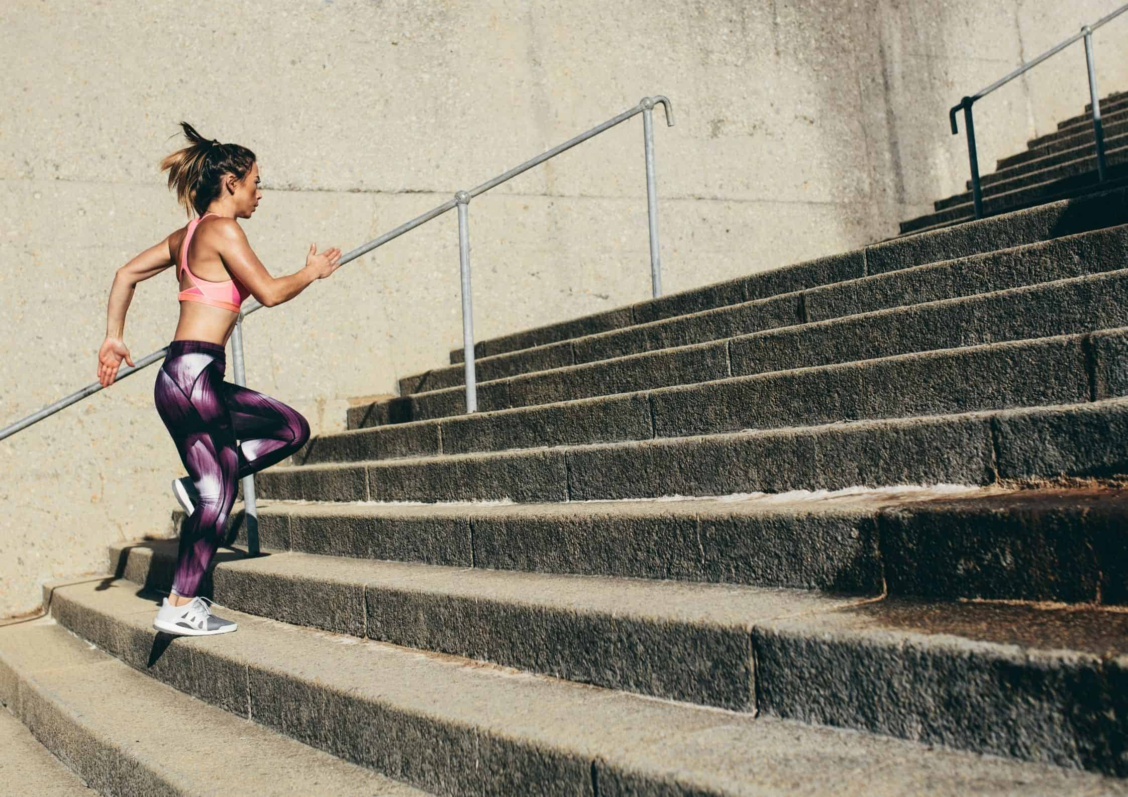 Steglengde ved løping i trapp