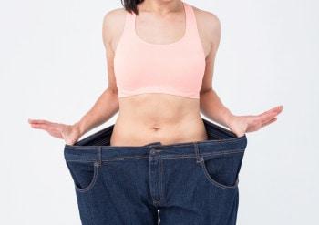Ned i vekt stor bukse