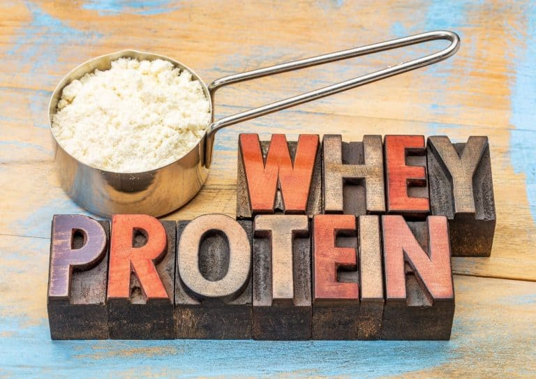 Målebeger med Whey Protein